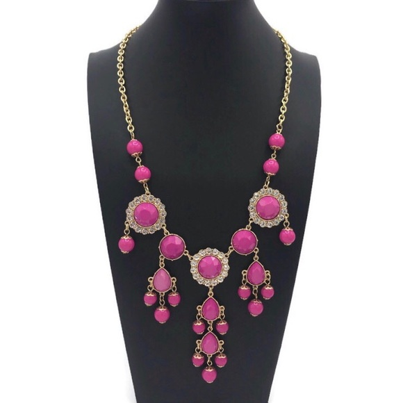 Lilly Pulitzer Pink & Gold Statement Necklace
